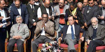 CJI Dipak Misra Justice Chelameshwar Justice Ranjan Gogoi